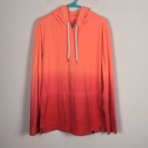 American Eagle Orange To Red Ombré Long Sleeve